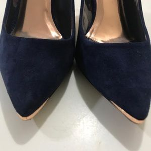 Ted BAker blue suede shoes size 39